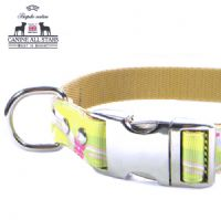 DOG COLLAR - HAWAIIAN SWIRLS YELLOW